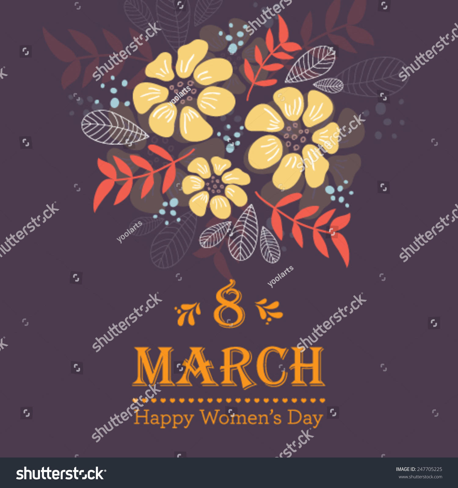 Happy March Images Stock Vector Vector Happy Women S Day Greeting