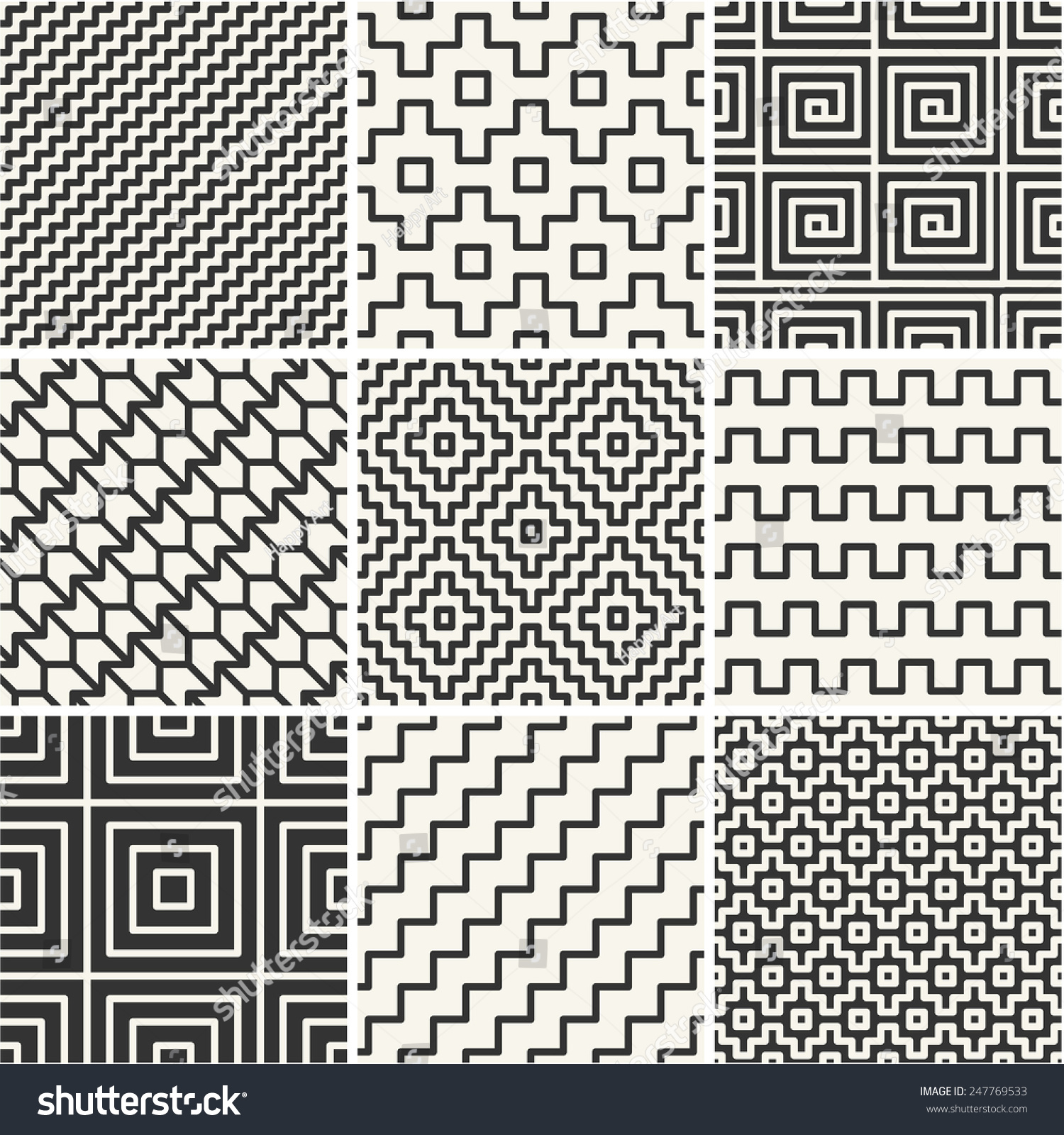 Simple Line Designs Patterns : Vector mono line backgrounds simple patterns stock