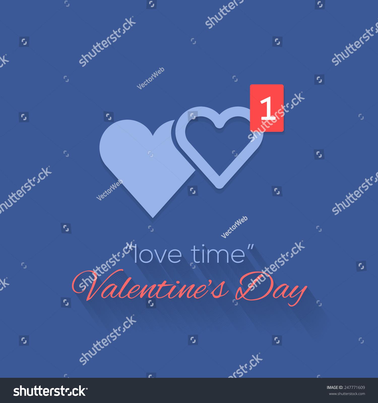Couple heart symbols love time concept stock vector 247771609 couple heart symbols and love time concept valentines day background design 1 hearts symbol biocorpaavc