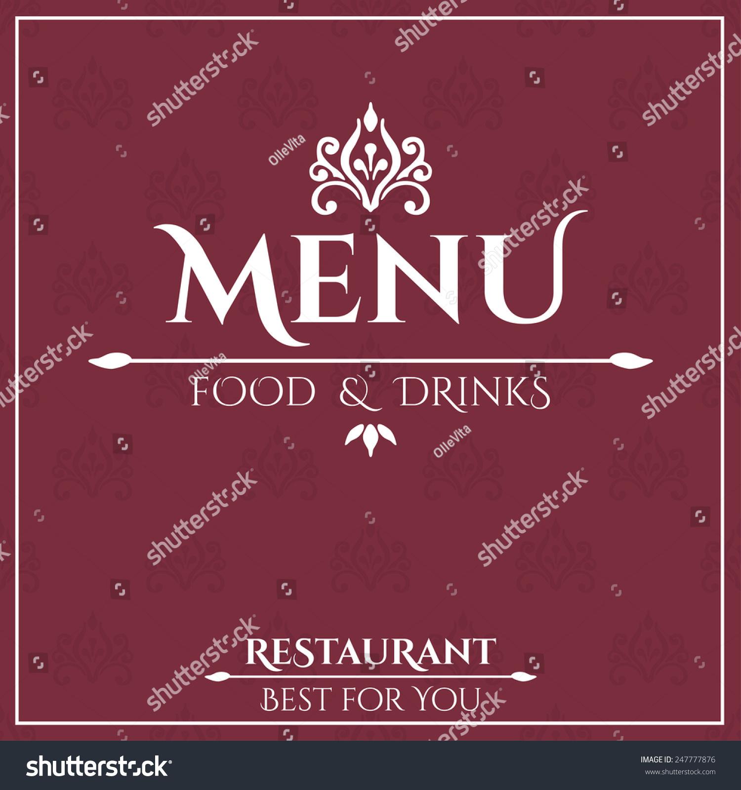 Vector De Stock Libre De Regalias Sobre Elegant Restaurant Menu Design Vector Illustration247777876