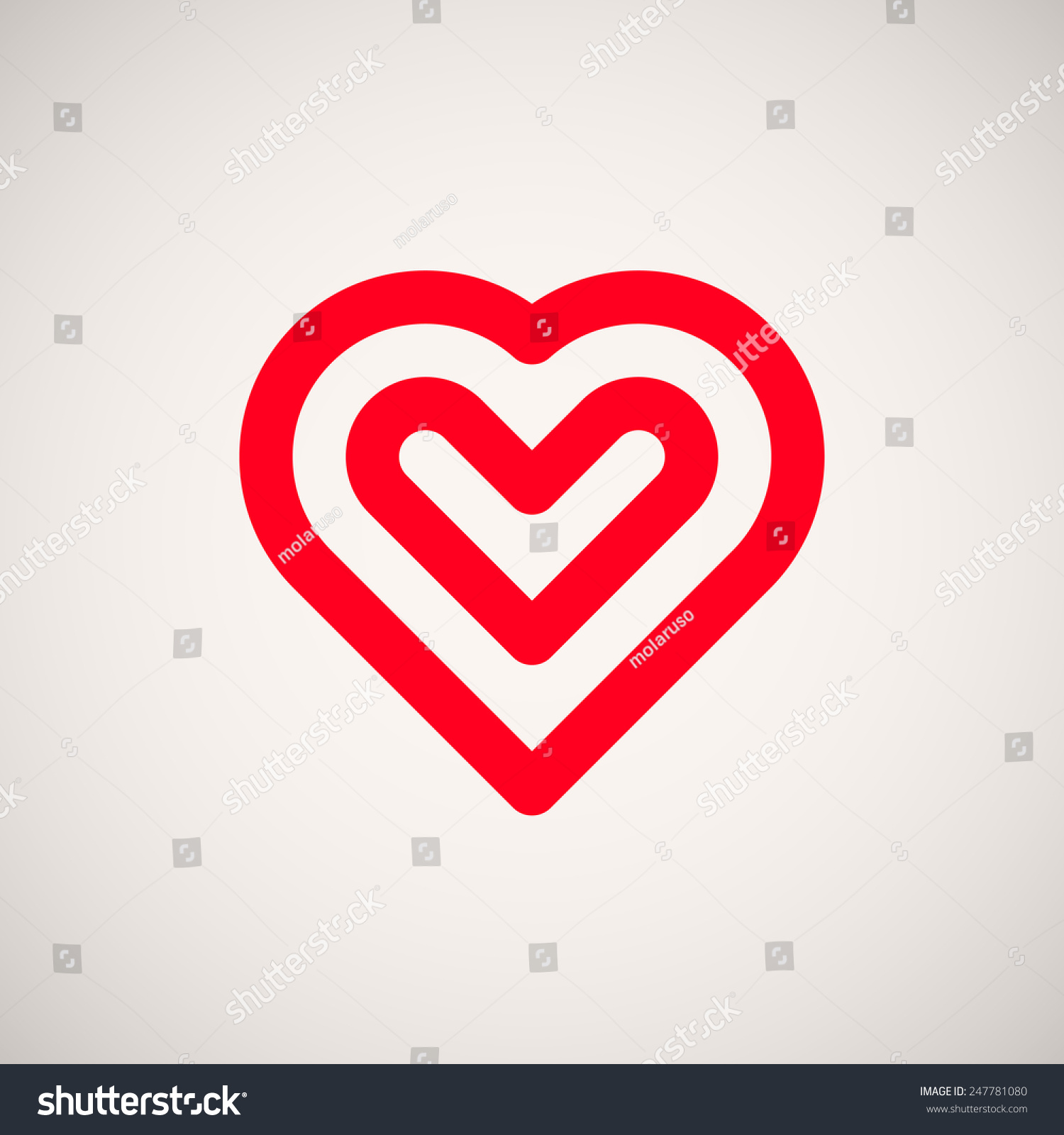Red Abstract Valentines Heart Sign Blank Stock Vector Royalty Free