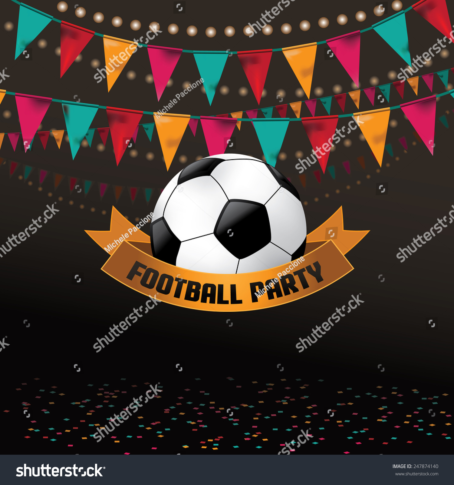 Football Soccer Party Invitation Background Eps Vector – Party Invitation Background