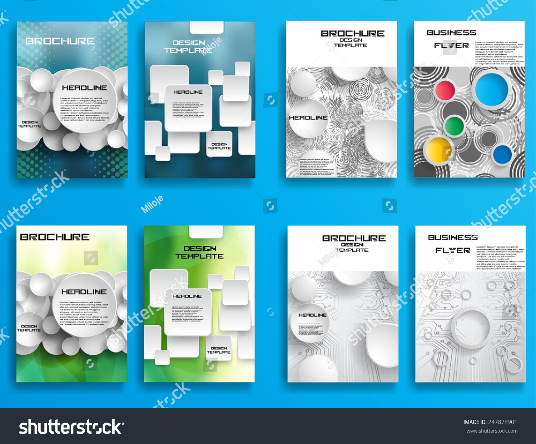 Modern vector technology brochure cover flyer stock vector for Technology brochure template