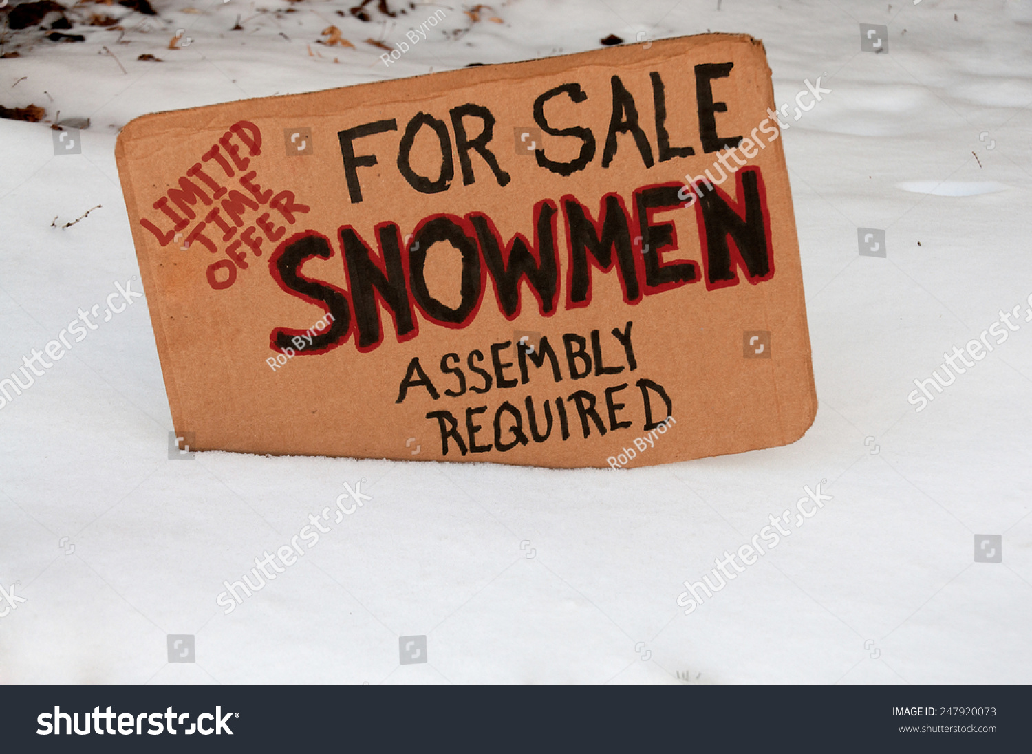 Snowman for sale assembly required limited time offer stock photo