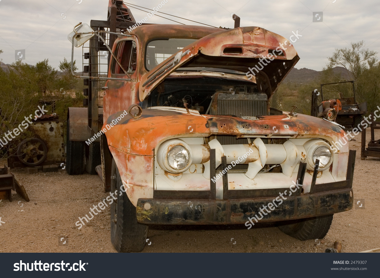Junkyard Tow Truck Stock Photo (Safe to Use) 2479307 - Shutterstock