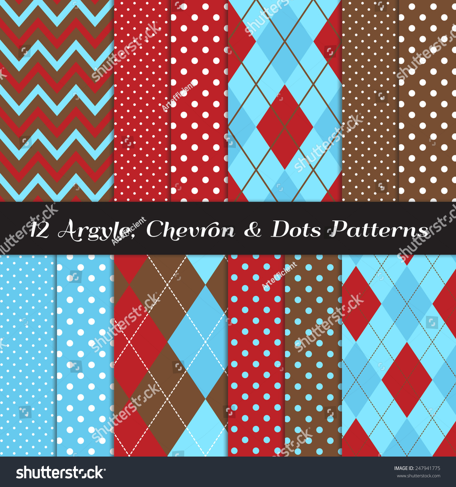 Pics photos merry christmas argyle twitter backgrounds - Two Tone Blue Red Brown And White Chevron Argyle And Polka Dot Patterns