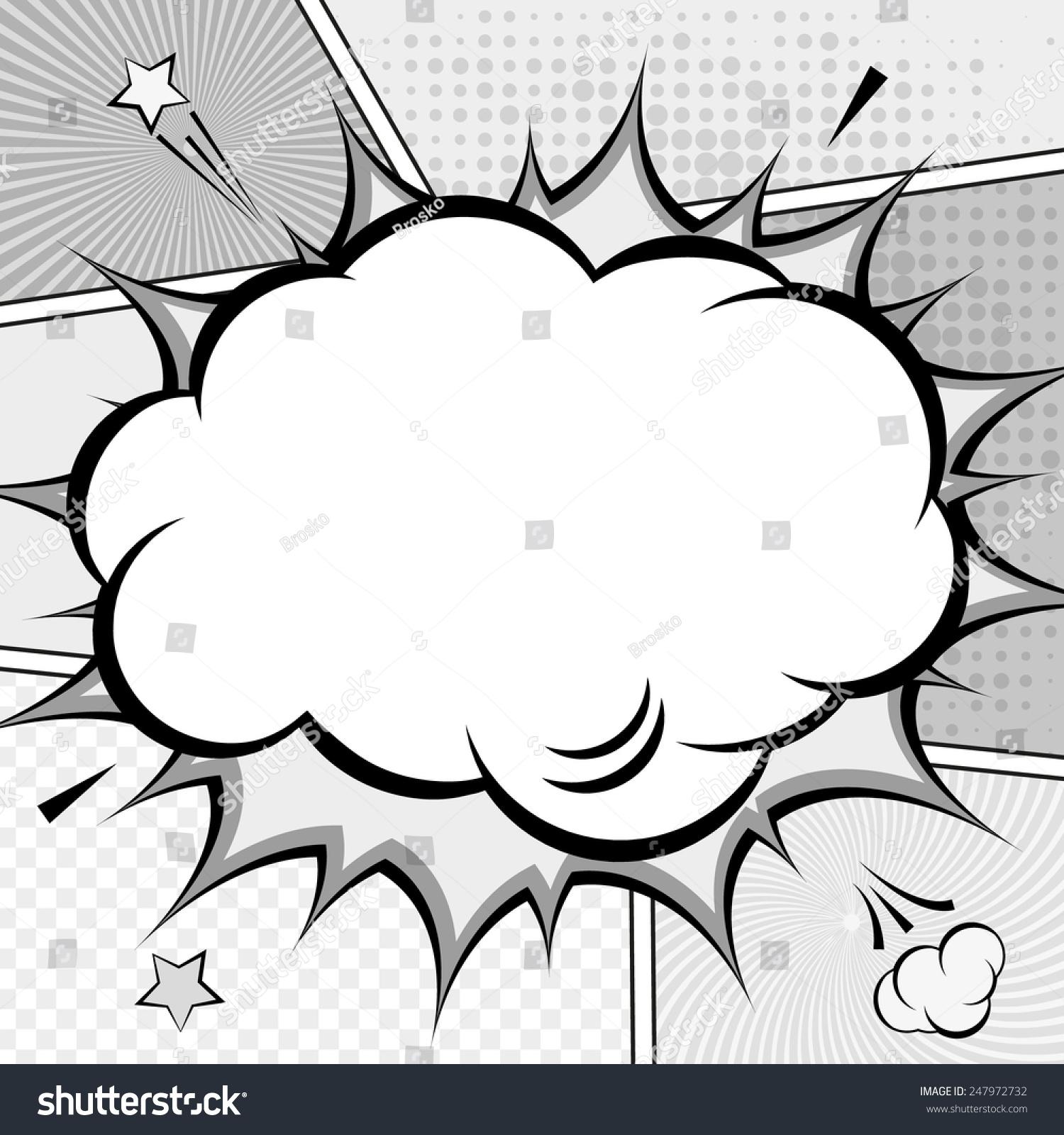 Comic Speech Bubble Background Popart Style Stock Vector 247972732 ...