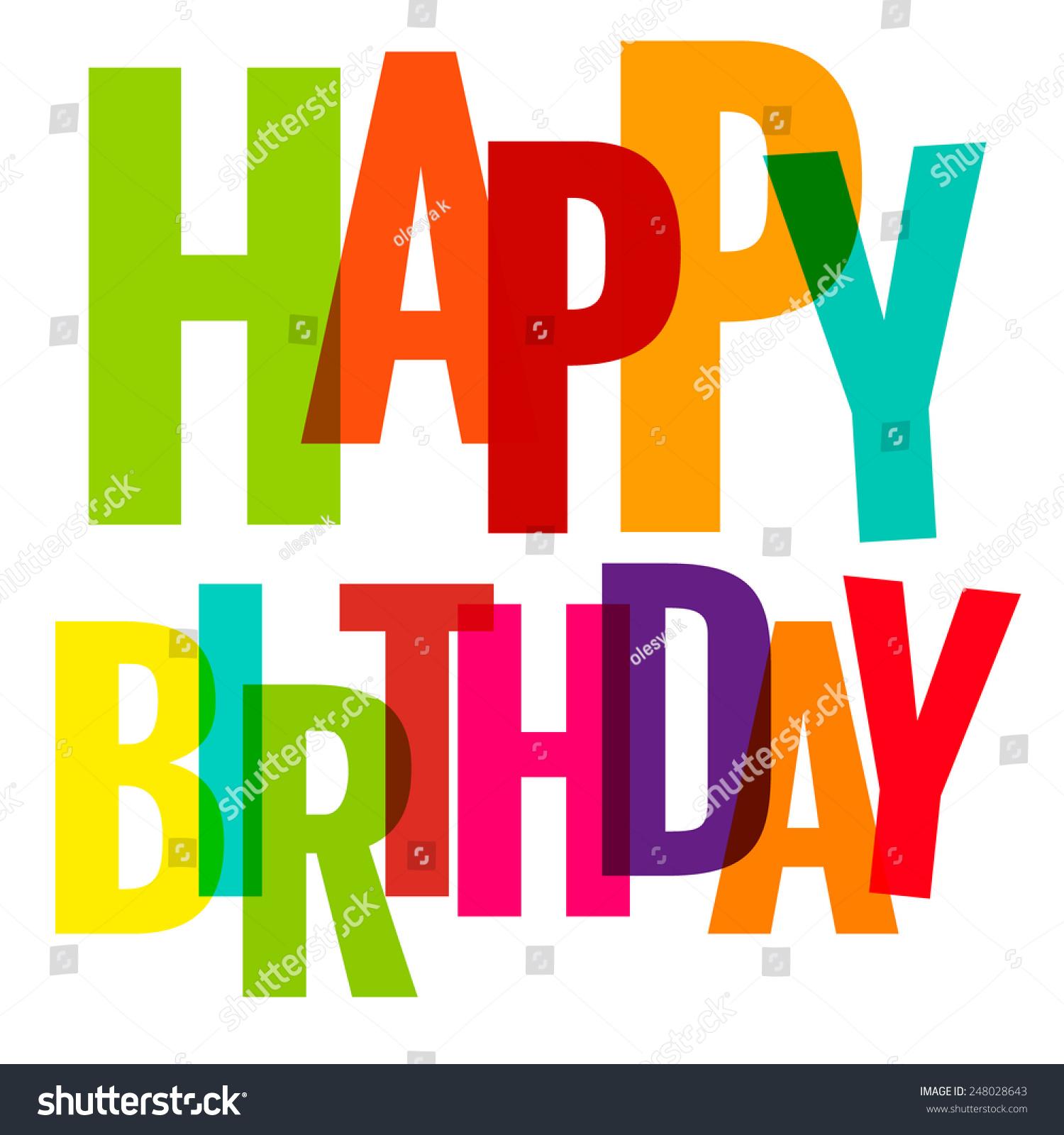 Happy Birthday Greeting Card Vector Eps Stock Vector Royalty Free