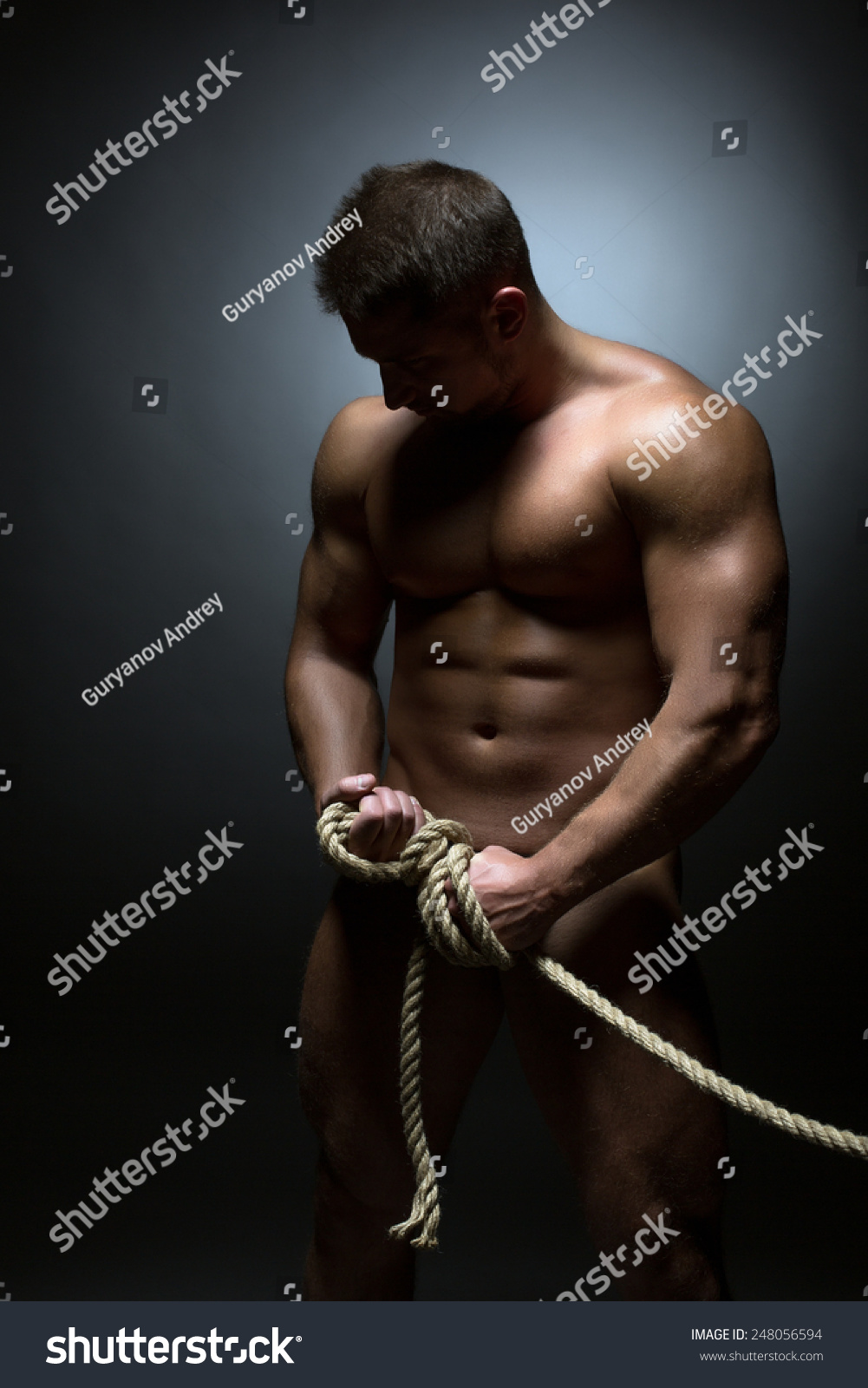 Naked Man Tied 45