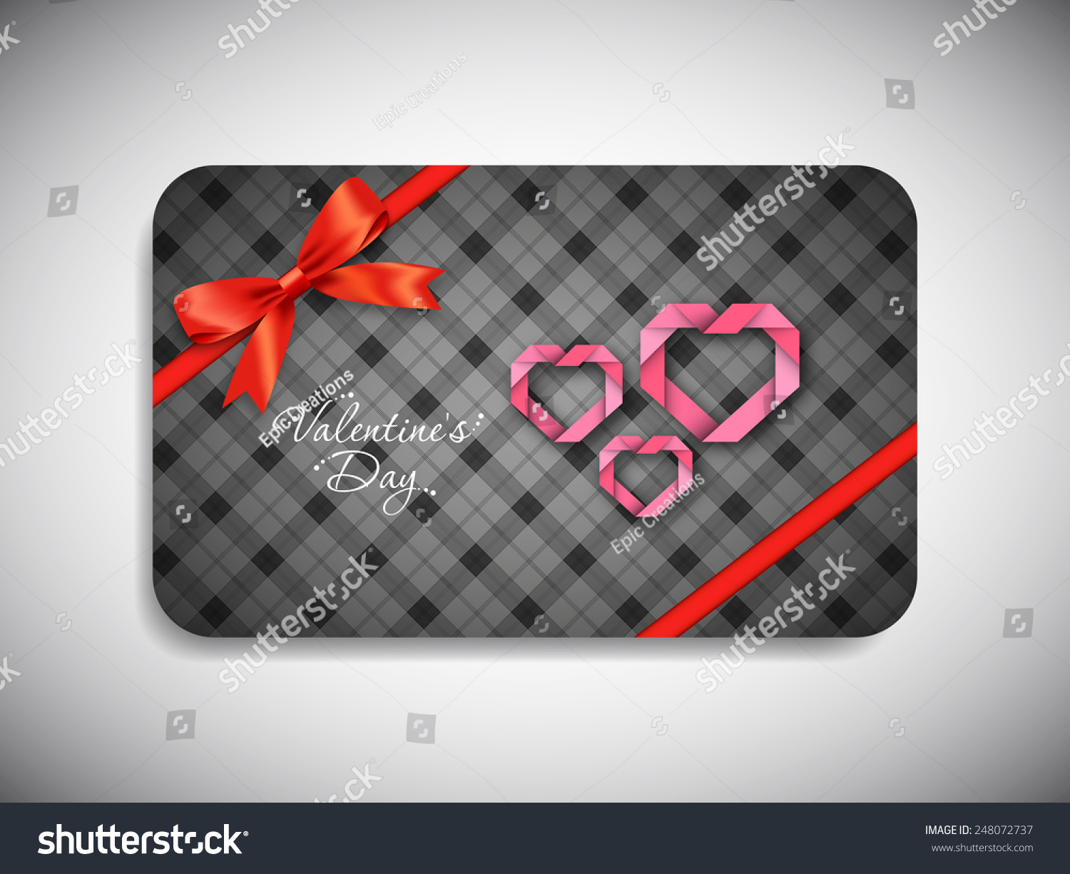 Gift card valentines day beautiful heart gift card of valentines day with beautiful heart design negle Gallery