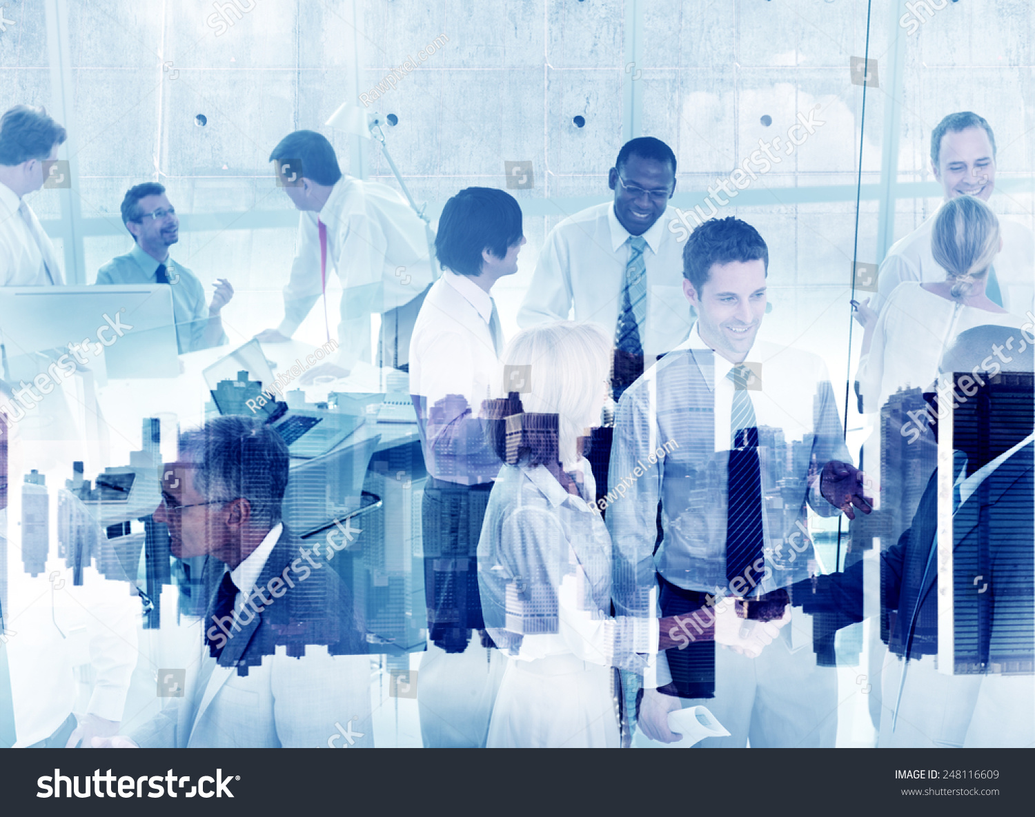 Business People Working Togetherness Teamwork Support Partnership Company #248116609