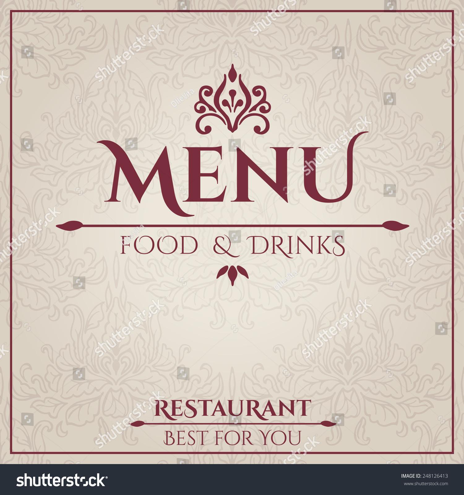 Vector De Stock Libre De Regalias Sobre Elegant Restaurant Menu Design Vector Illustration248126413