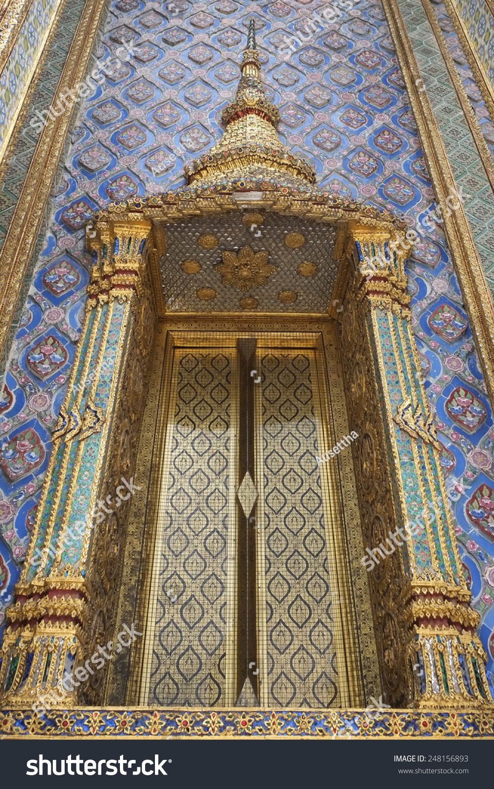 Beautiful Thai Style Temple Church Entry Stock Photo Royalty Free