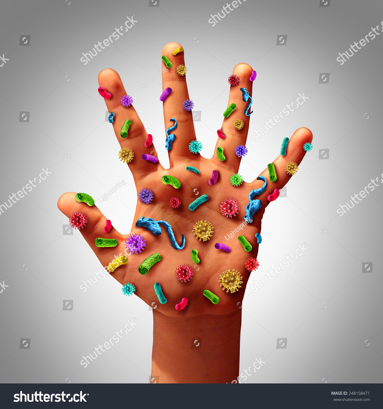 Pictures Of Germs On Hands 95