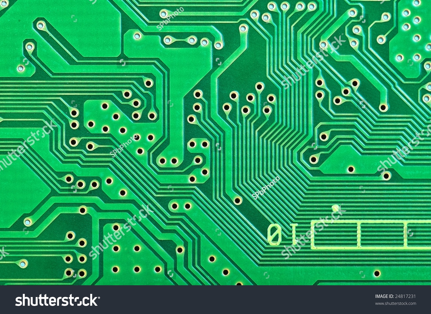 Closeup Circuit Board Connections Stock Photo (Royalty Free ...