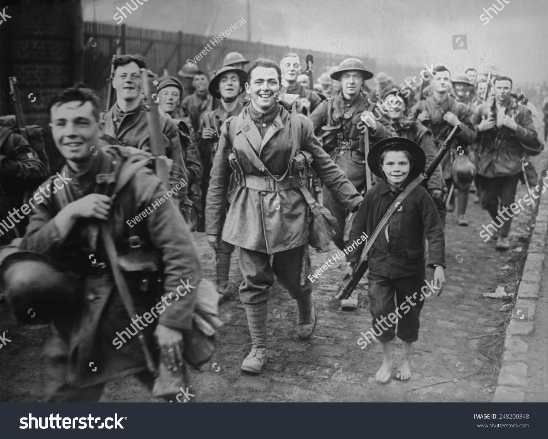 World War 1 Smiling British Soldiers Stock Photo (Royalty Free ...