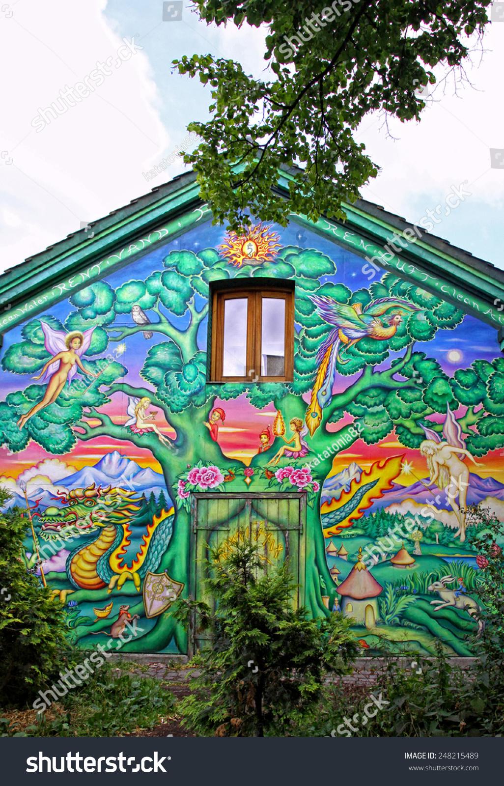 Copenhagen, Denmark - July 28, 2012: Graffiti In ...