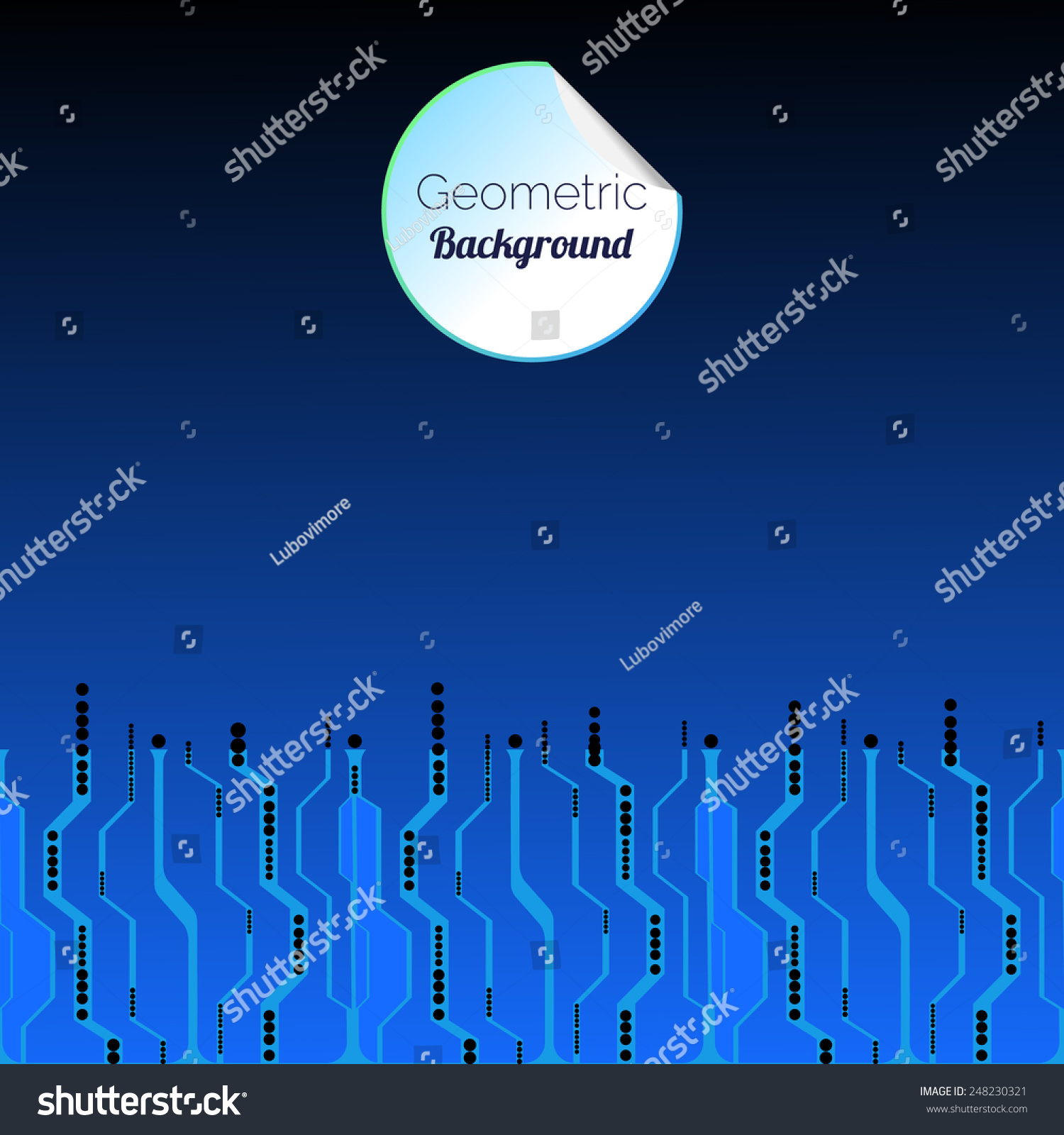 Abstract Circuit Board Background Web Design Stock Vector Royalty