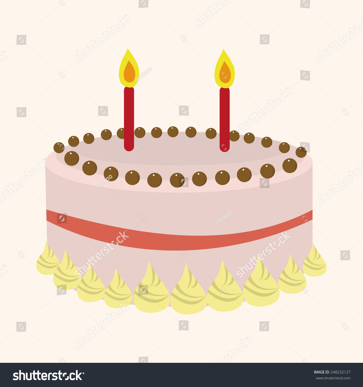 Cake Decorating Stock Images : Decorating Cake Elements Vector,Eps - 248232127 : Shutterstock