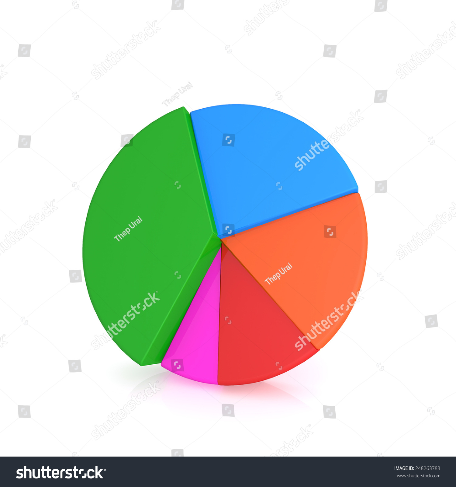 Colorful 3 D Pie Chart Graph Stock Illustration 248263783 Shutterstock