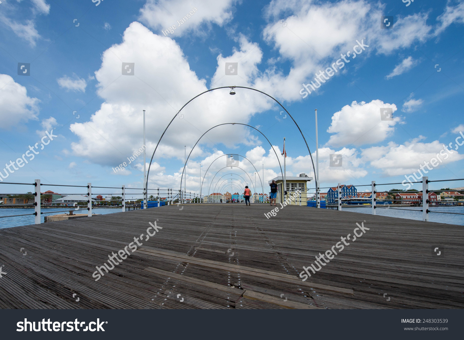 Floating bridge in Willemstad Curacao #248303539