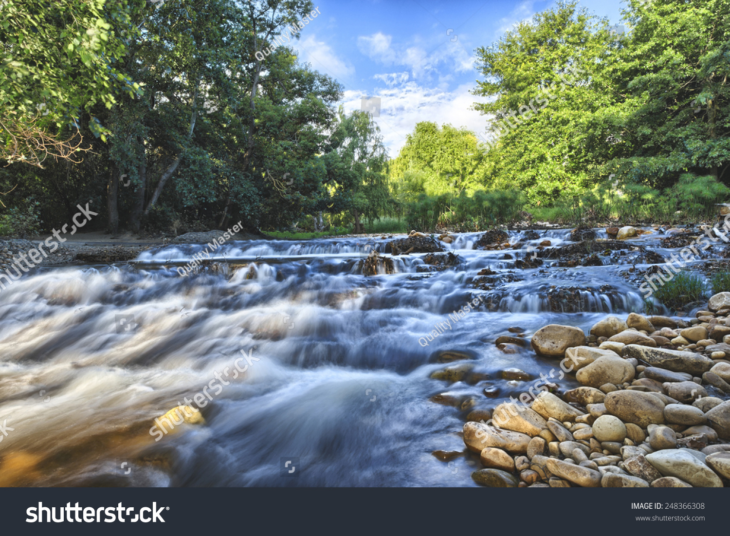 Landscape forest river stones cape town stock photo for Landscaping rocks cape town