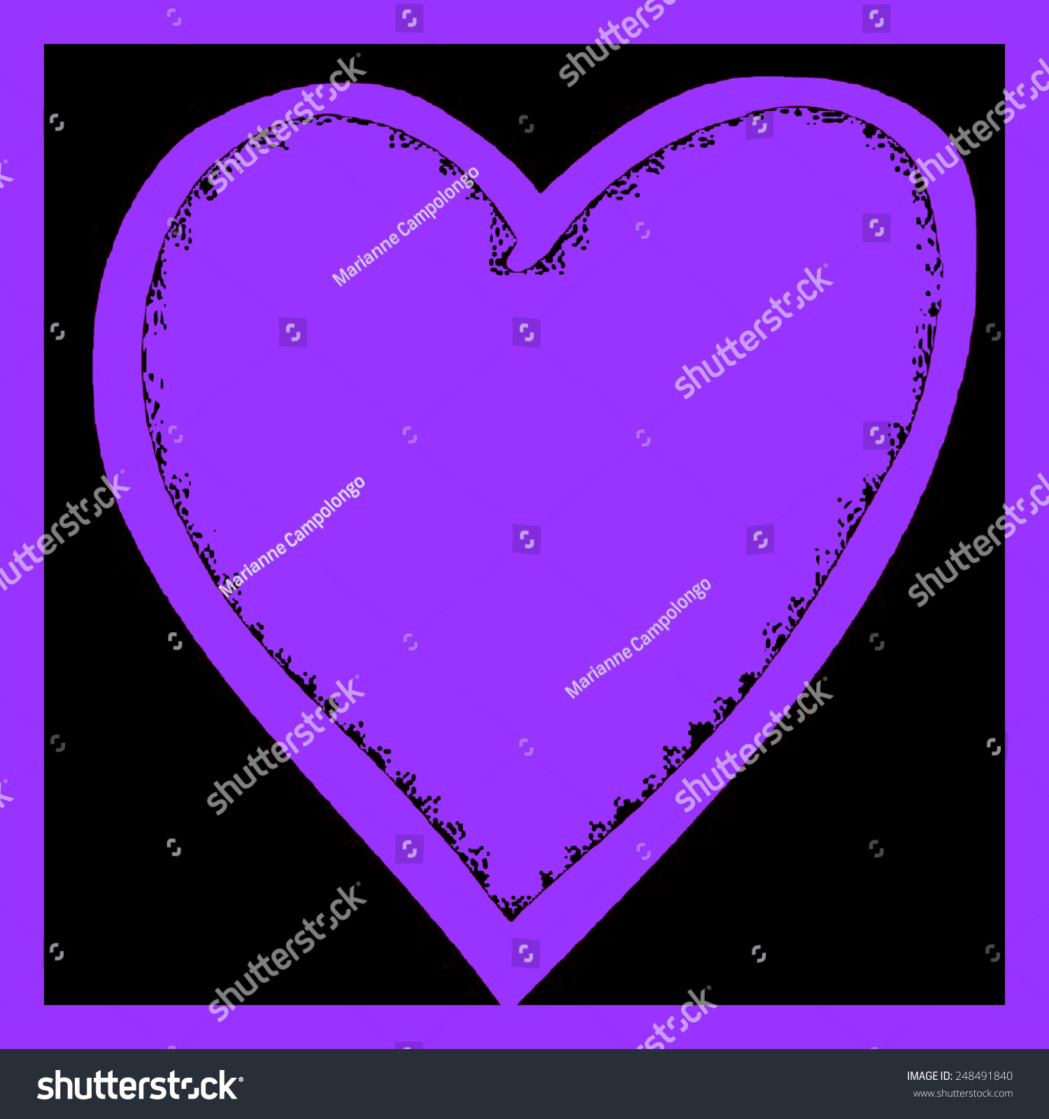 Purple heart digital illustration valentines day stock purple heart digital illustration valentines day abstract background symbol of love romance romantic series with copy buycottarizona