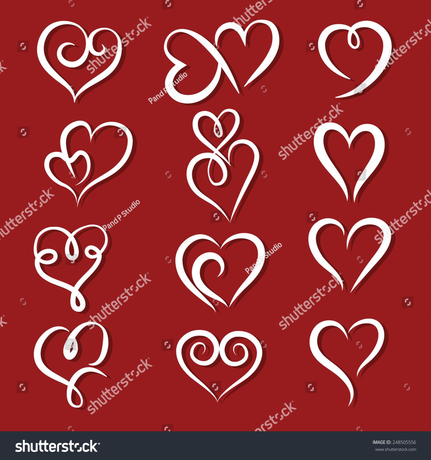 Set symbol heart vector illustrator stock vector 248505556 set of symbol heart vector illustrator buycottarizona