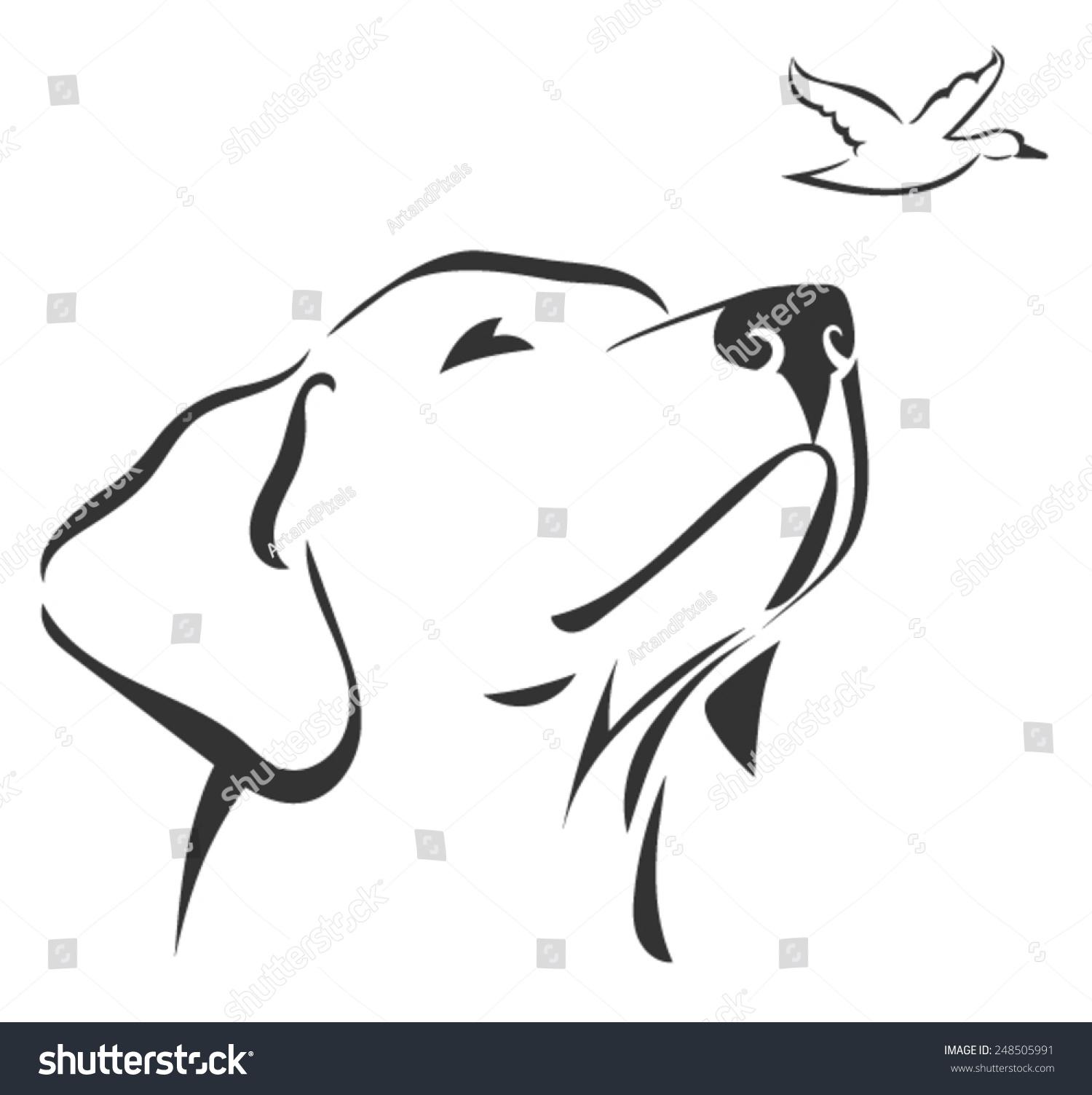 Labrador Head 3 Stock Vector 248505991 - Shutterstock