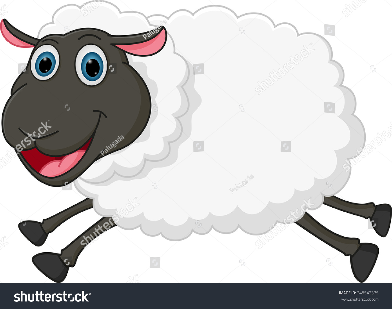 Happy Sheep Jumping Stock Vector 248542375 - Shutterstock for Happy Lamb Jumping  61obs