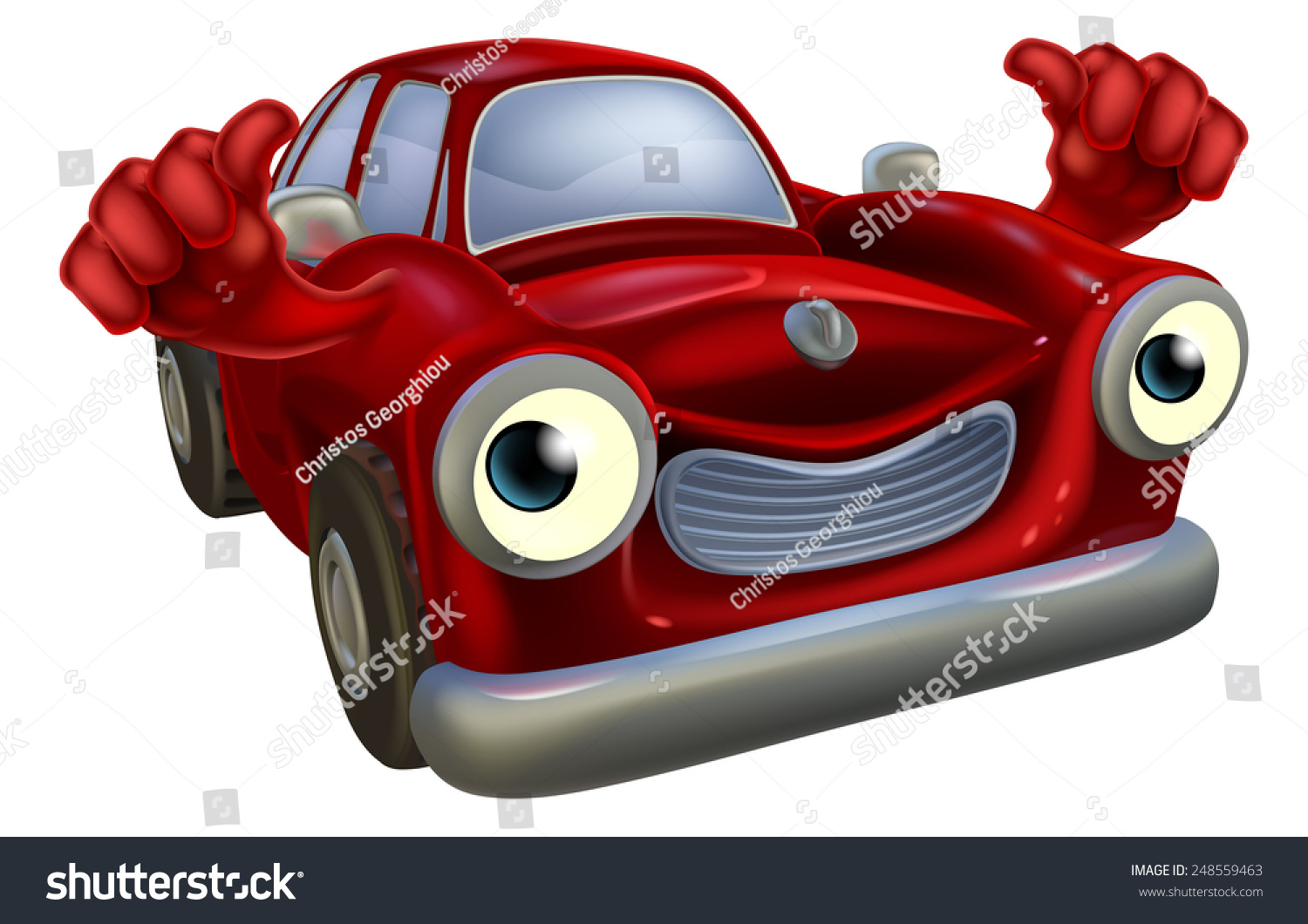 Cartoon Old Fashioned Car Character Happy Stock Vector 248559463 ...