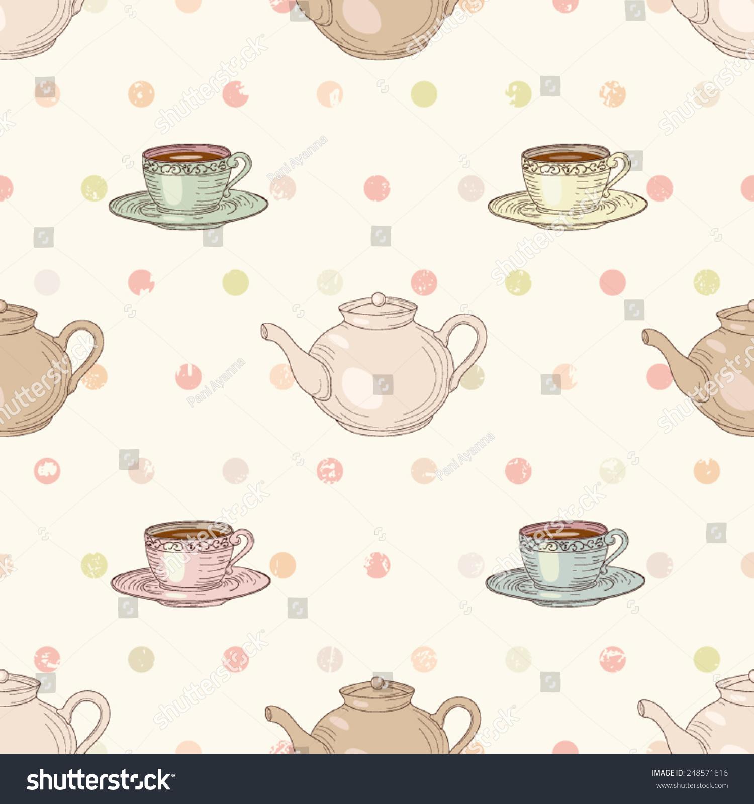 vintage tea cup wallpaper - photo #32