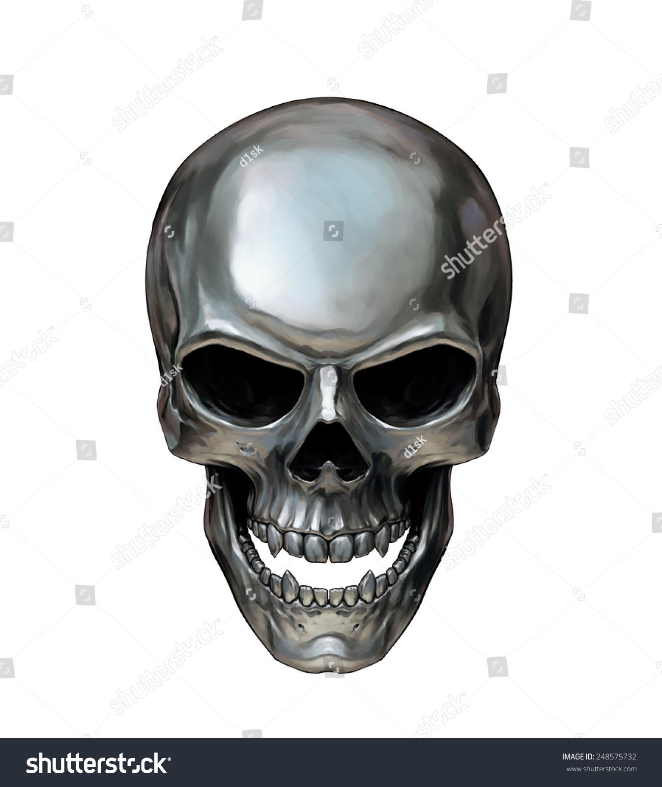 Metal Skull Stock Illustration 248575732
