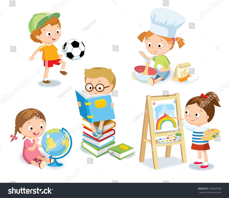 Kids Hobbies Stock Vector Royalty Free 248582338