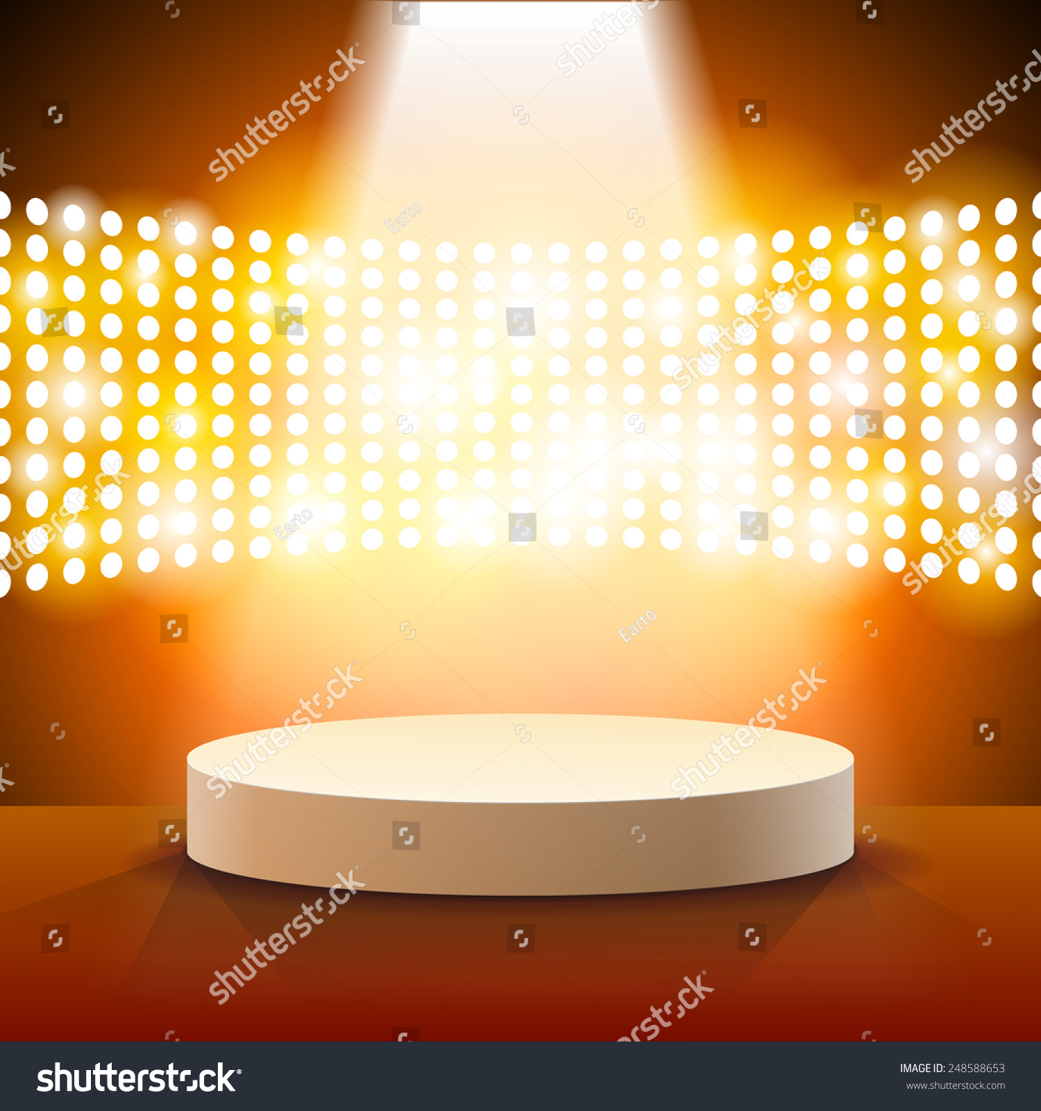 Theater Lights Background: Stage Lighting Background Spot Light Effects Stock Vector