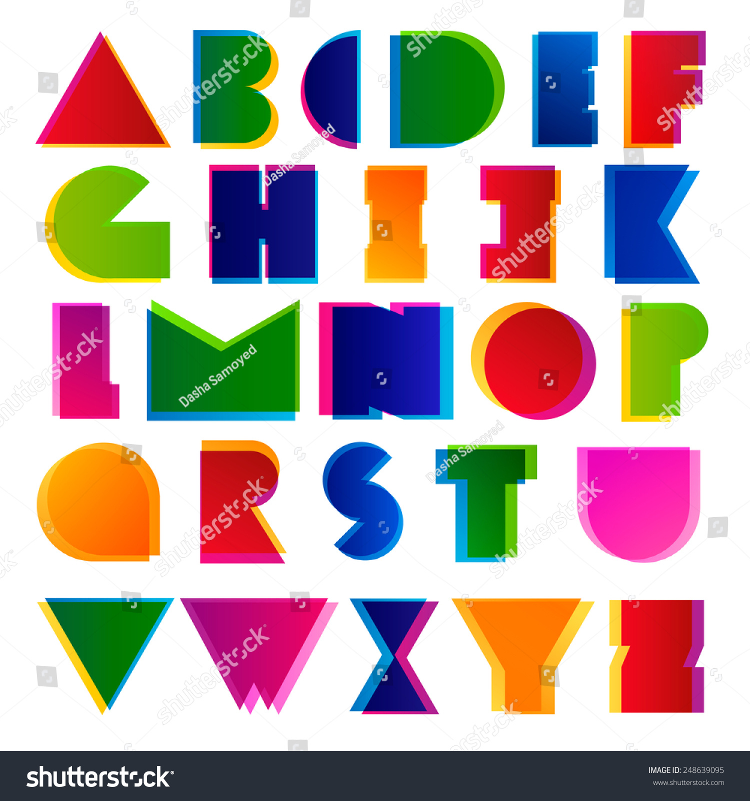 Creative Modern Colorful Alphabet Letters Best For Headers And Posters Design
