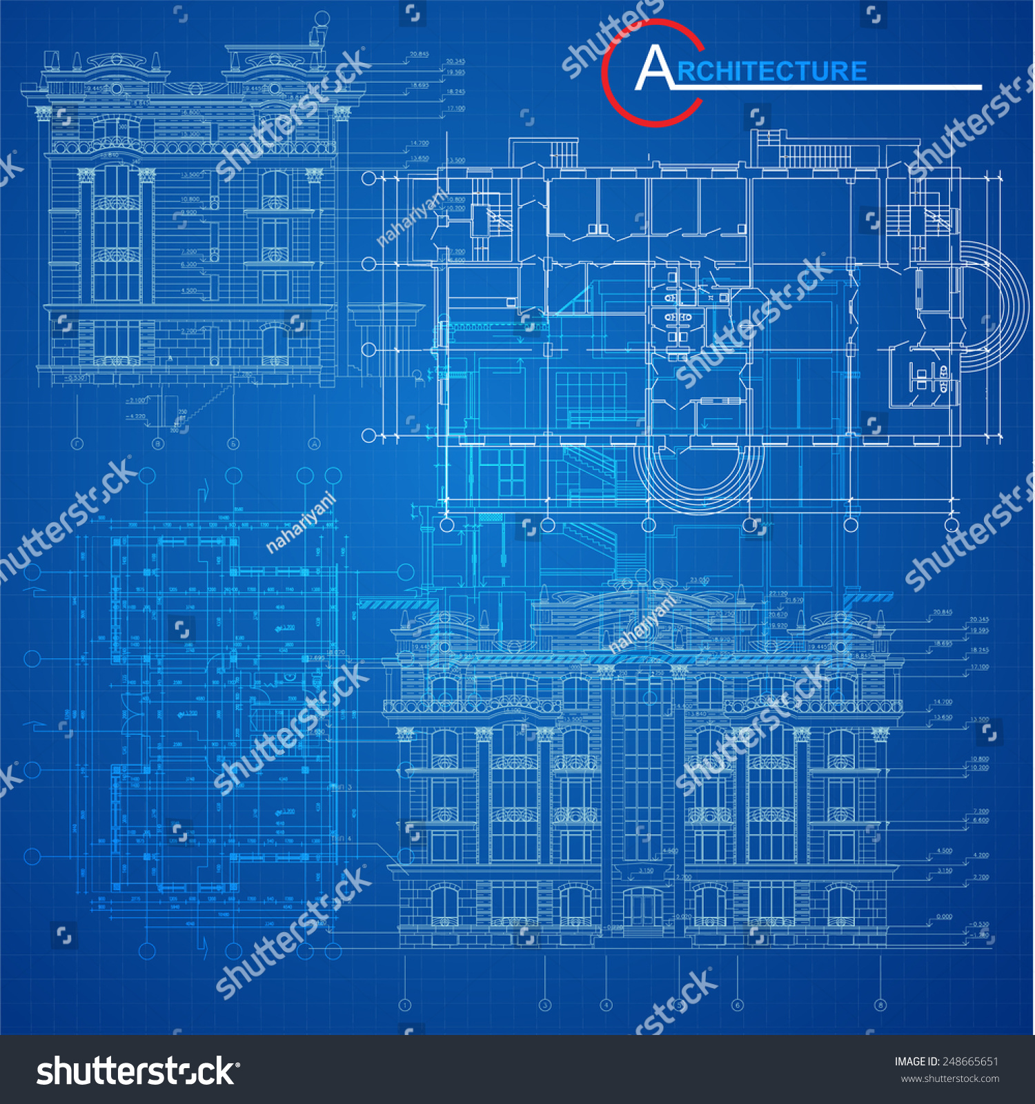 Urban blueprint vector architectural background part stock vector hd urban blueprint vector architectural background part of architectural project architectural plan malvernweather Image collections