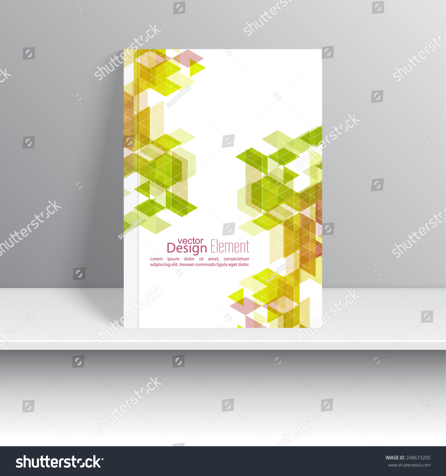 royalty free magazine cover with triangles for book…