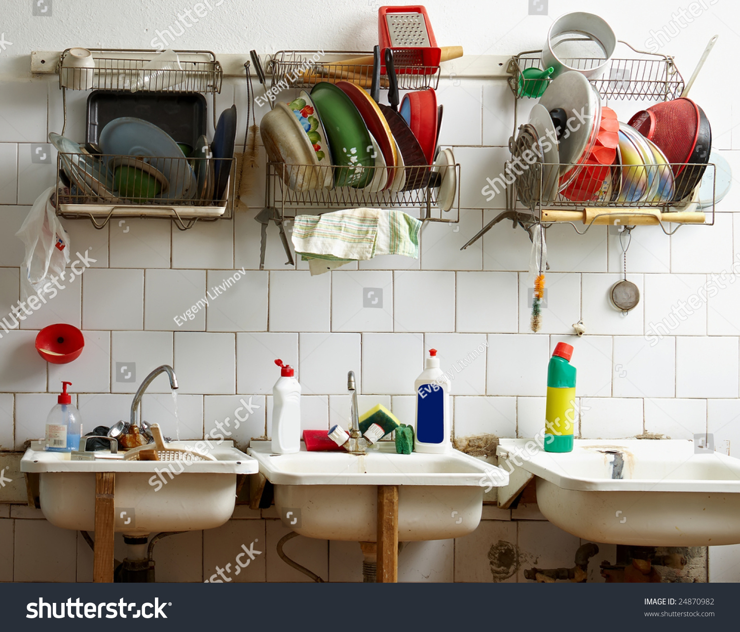 Communal Kitchen Stock Photo (100% Legal Protection) 24870982 ...
