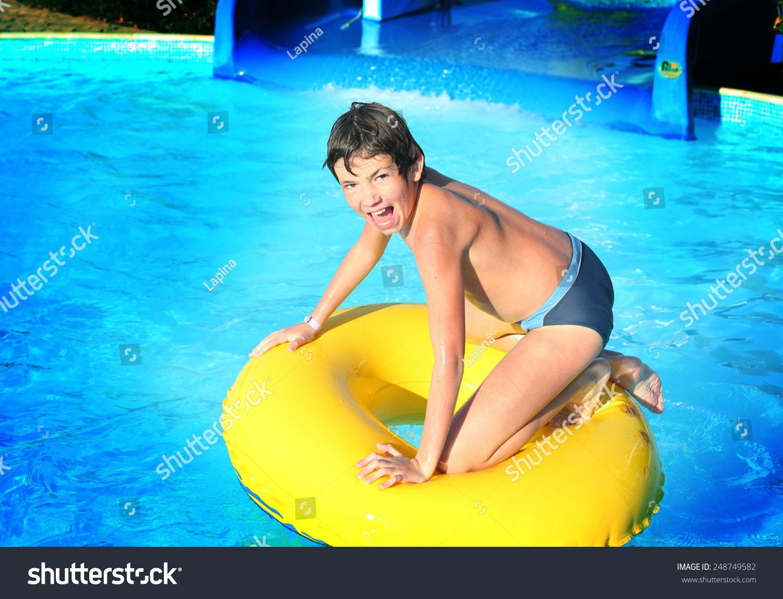 Boy sex at waterpark