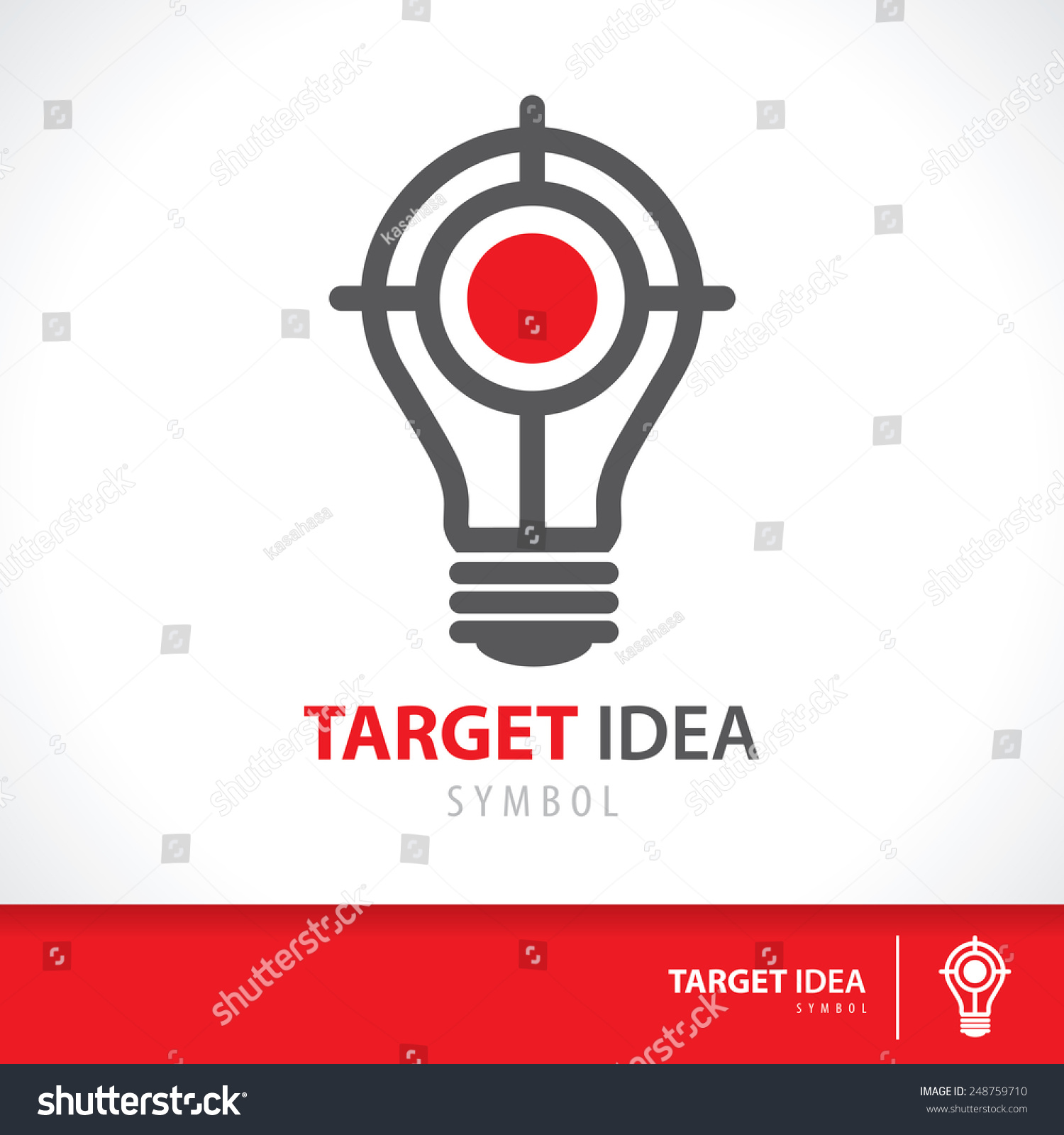 Home Ideas Design Inspiration Target: Target Idea Symbol Icon Hit Inspiration Stock Vector