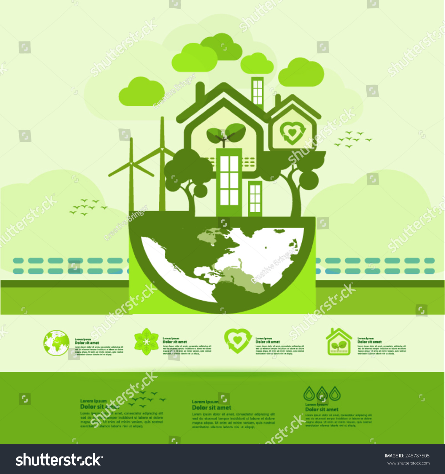 Let S Save The Green World Together Ez Canvas