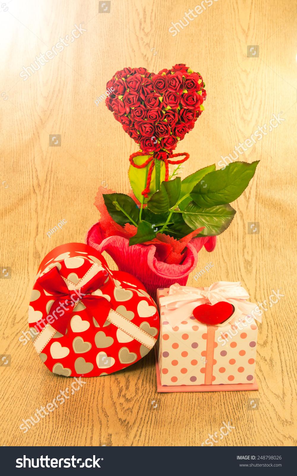 Love Decoration Gift Box Heart Shape Stock Photo (Edit Now ...