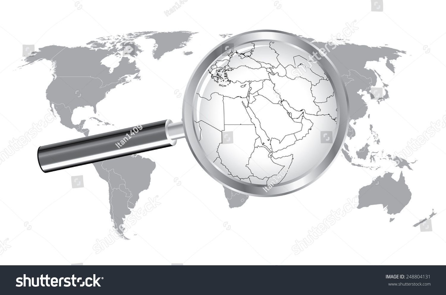 World Map Middle East Wired Continent Stock Vector - World map middle east