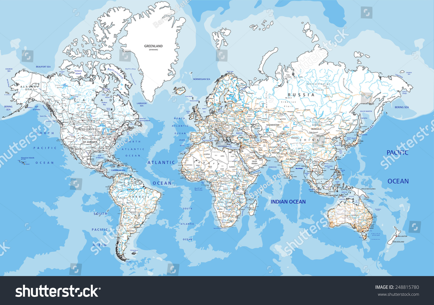 High detailed world road map labeling stock vector 248815780 high detailed world road map with labeling white gumiabroncs Image collections