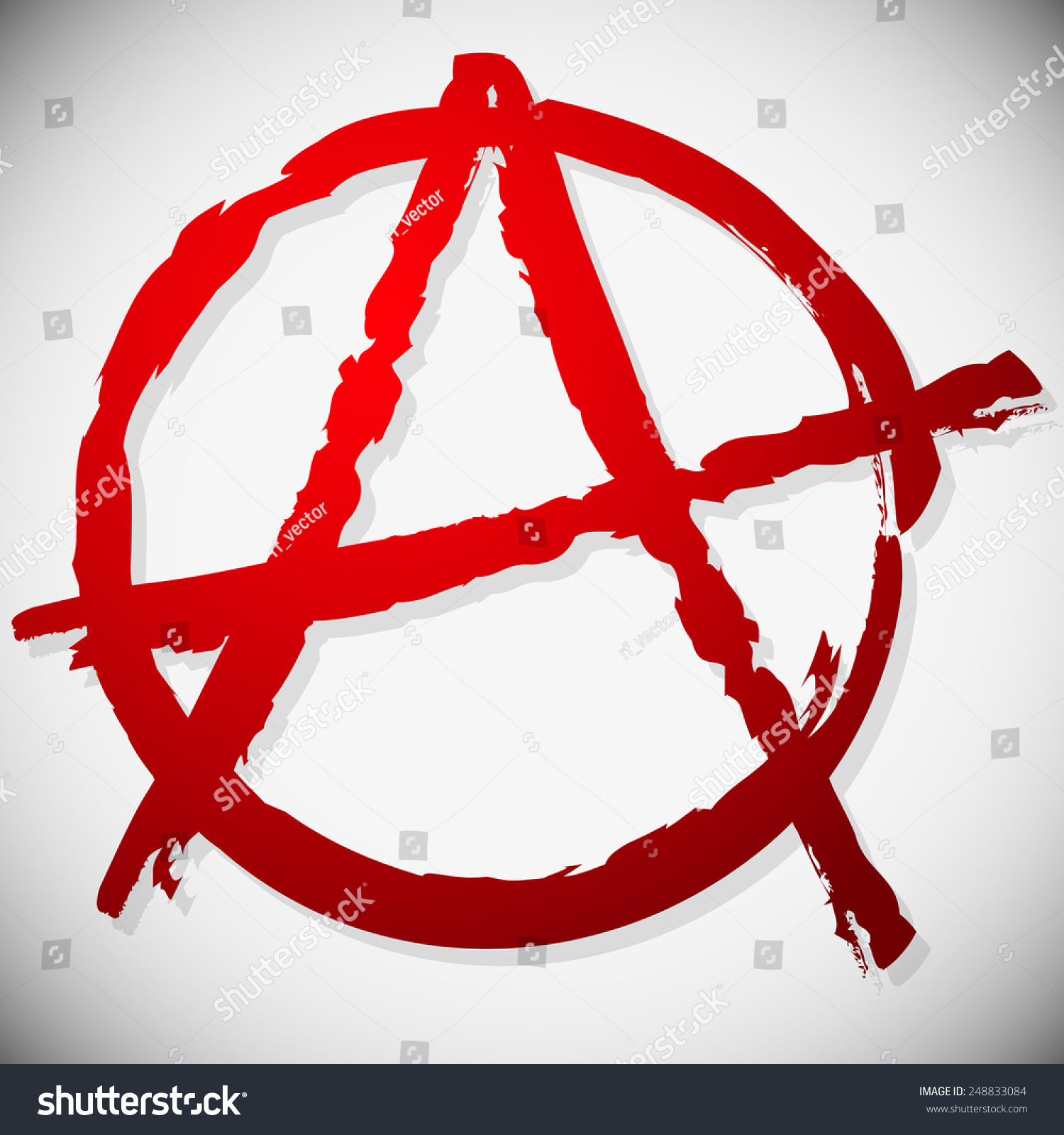 Grungy anarchy sign textured symbol anarchy stock vector 248833084 grungy anarchy sign textured symbol of anarchy painted look biocorpaavc Choice Image