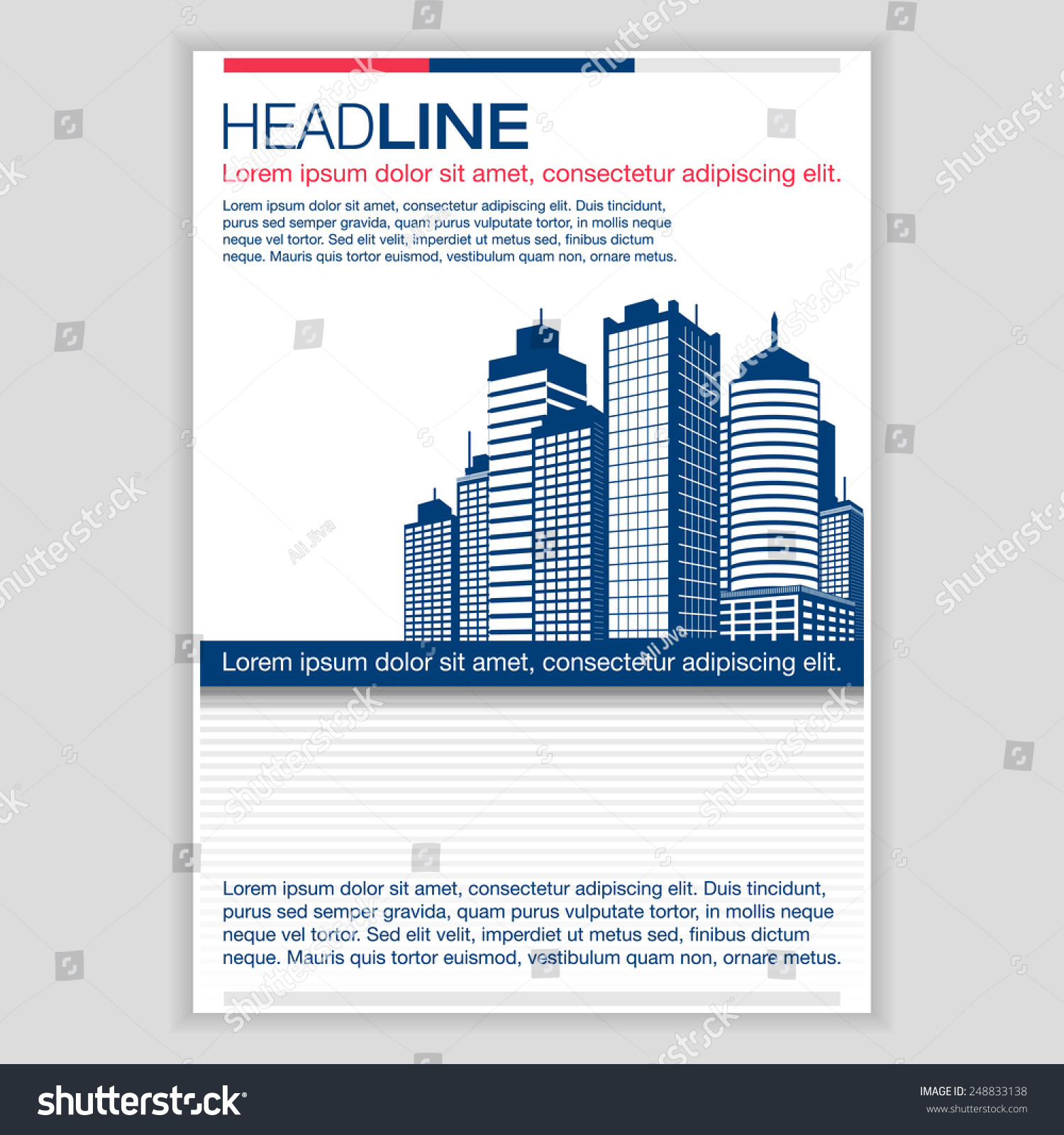 creative brochure template design real estate stock vector creative brochure template design for real estate abstract vector flyer pamphlet leaflet layout