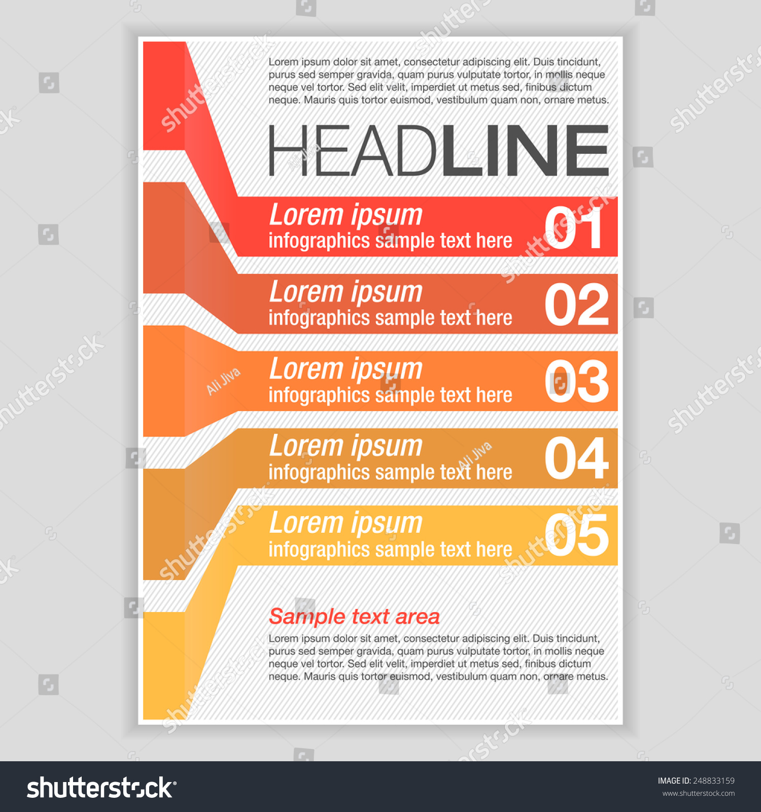 creative brochure template - creative brochure template design infographic chart stock