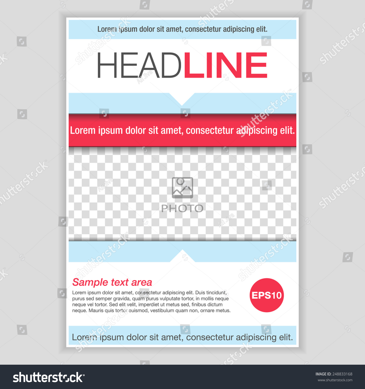 Creative Brochure Template Design. Abstract Vector Flyer, Pamphlet, Leaflet  Layout For Marketing,  Pamphlet Layout Template