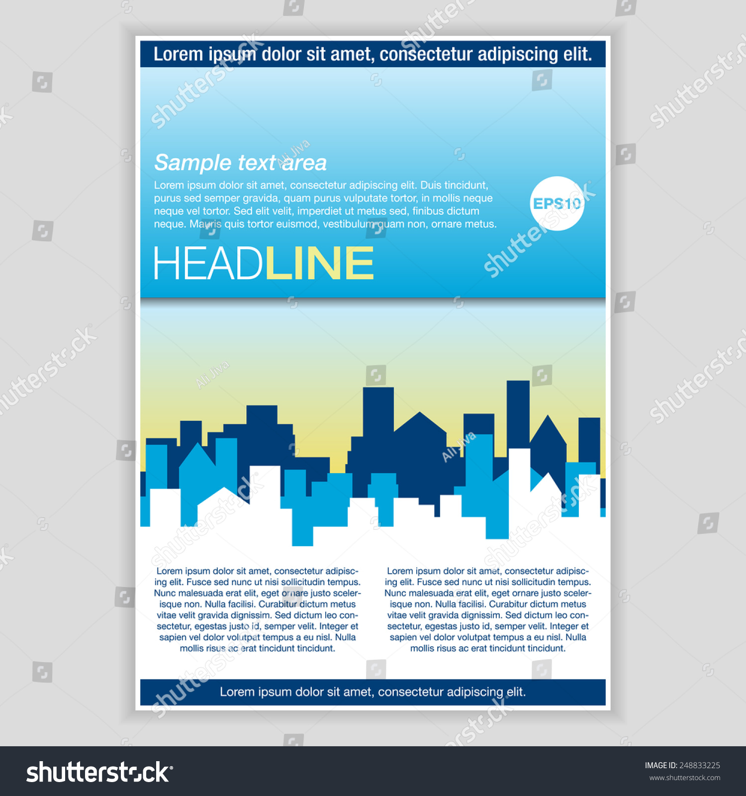 Creative Brochure Template Design Real Estate Vector – Pamphlet Layout Template